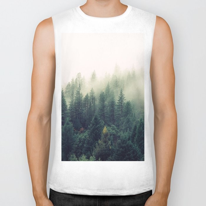 The Foggy Forest Biker Tank