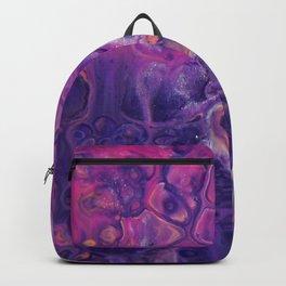 Fluid Nature - Dark Flowers - Abstract Acrylic Art Backpack