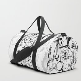 Inside the Mind - b&w Duffle Bag
