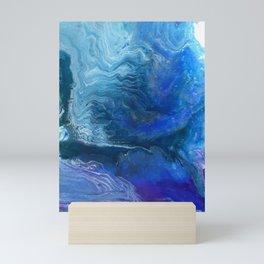 Blue Ocean Wave Mini Art Print