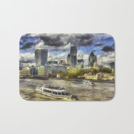 The River Thames And City Art Bath Mat