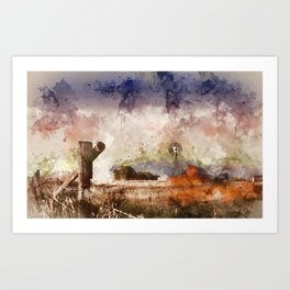 Into the Fields Art Print