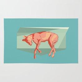 Greyhound on light. Rug