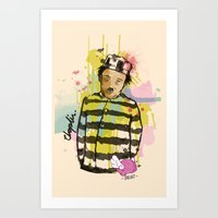 chaplin Art Prints featuring Chaplin by Dnl Villanueva