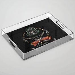 polo black label Acrylic Tray