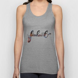 FIREHEART with flames Unisex Tank Top