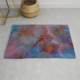 Colorful watercolor abstraction II Rug