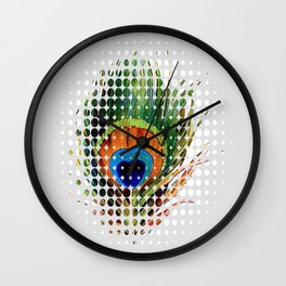 PEEKING PEACOCK Wall Clock