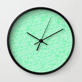 Microchip Pattern (Mint) Wall Clock