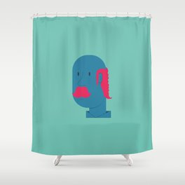 OLD MOSTACHIN Shower Curtain