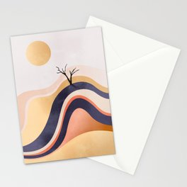 The Flowing Golden Desert Stationery Cards