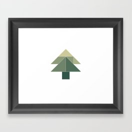 Tangram / Christmas tree Framed Art Print