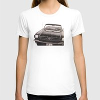 mustang T-shirts featuring Mustang by Lindsay Carter
