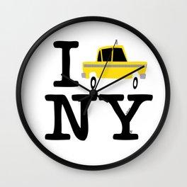 New York Yellow Cab logo Wall Clock