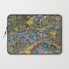 Illustrated map of Berlin Laptop Sleeve