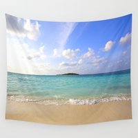 beach Wall Tapestries featuring Beach by 2sweet4words Designs