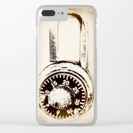 Found Objects Lock Clear iPhone Case