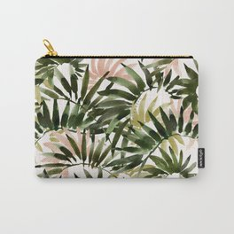 UNFURLING Tropical Palm Print Carry-All Pouch