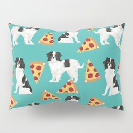 Japanese Chin cheery pizza slice junk food funny cute gifts for dog lover pet friendly pet protraits Pillow Sham