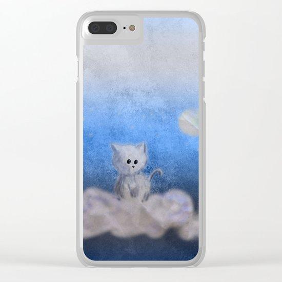 kitten in the sky Clear iPhone Case