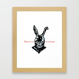Donnie Darko: FEAR • FRANK • LOVE Framed Art Print