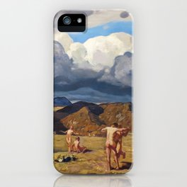 Men and Mountains by Rockwell Kent, 1909 iPhone Case