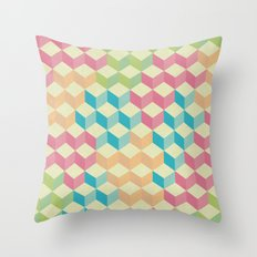 Sugar Cubes Geometric Pattern Throw Pillow