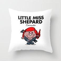 Little Miss Shepard Throw Pillow