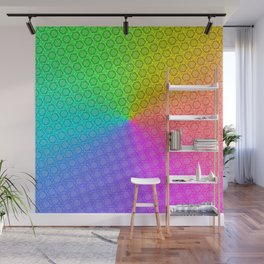 d20 Prismatic Spray Critical Hit Pattern Wall Mural