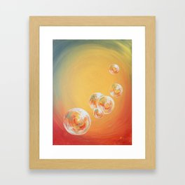 Candy Bubbles Framed Art Print