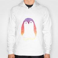 penguin Hoodies featuring Penguin by Alexandra Duma D.