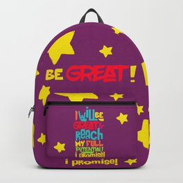 I WILL BE GREAT! Backpack