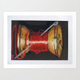 spool of thread Art Print