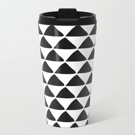 Black triangles & a weird one. Metal Travel Mug