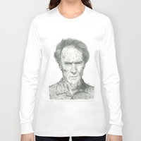 clint eastwood Long Sleeve T-shirts featuring Clint Eastwood by theMAINsketch