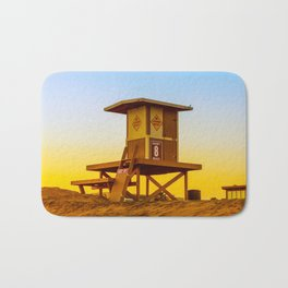 lifeguard tower Bath Mat