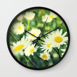 Chamomile flowers Wall Clock