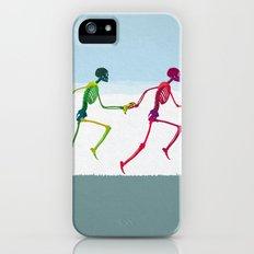 running sketeton with banana iPhone (5, 5s) Slim Case