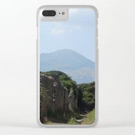 Mt Vesuvius Clear iPhone Case