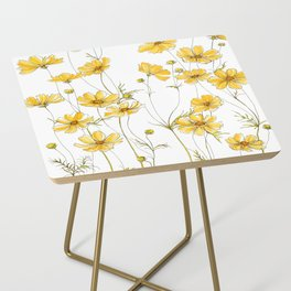 Yellow Cosmos Flowers Side Table