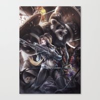 triforce Canvas Prints featuring triforce by chewiebaka