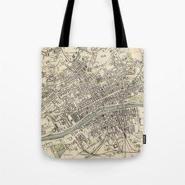 Vintage Map of Glasgow Scotland (1872) Tote Bag