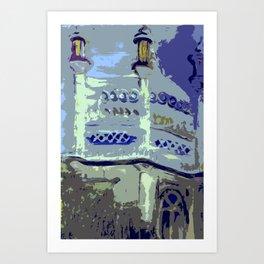 royal pavilion, abstract Art Print