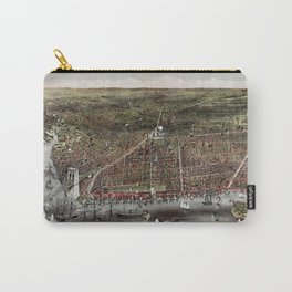 Brooklyn map vintage Carry-All Pouch