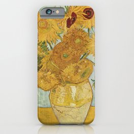 12 Sunflowers by Vincent van Gogh iPhone Case