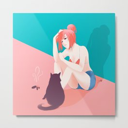 Cat Owner or Slave? Metal Print
