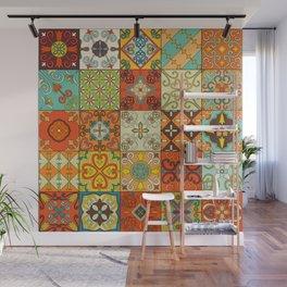 Vintage mosaic talavera ornament Wall Mural