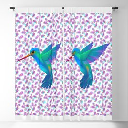HAPPY HUMMINGBIRD Blackout Curtain