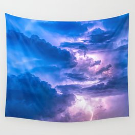 When Lightning Strikes Wall Tapestry