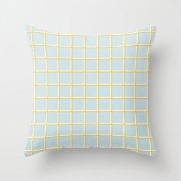 MINIMAL GRID BLUE Throw Pillow